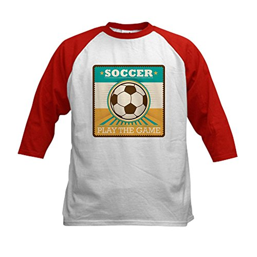 Royal Lion Kids Baseball Jersey Soccer Football Futbol Play The Game - Red/White, Large (14-16)