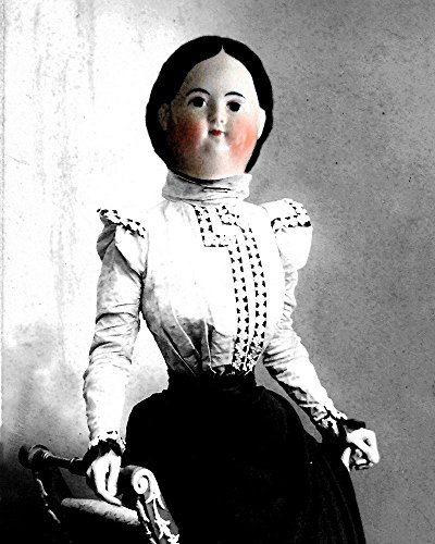 Victorian PORCELAIN DOLL Lady Altered Woman Portrait anthro art (Victorian Woman Portrait)