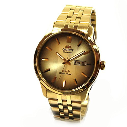 276bc9d608a8 Orient Classic FEM7P00BU9 - Reloj automático dorado para caballero   Amazon.es  Relojes