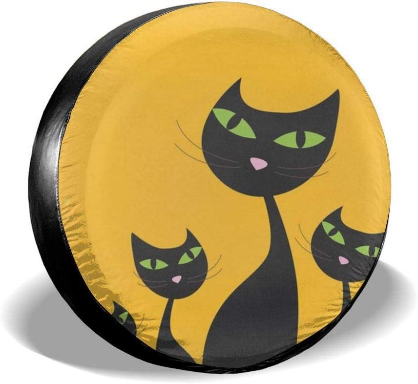 Aeeruen - Protectores de Rueda de Repuesto para Familia de Gatos de 14 a 17 Pulgadas, Blanco, 17 Pulgadas: Amazon.es: Hogar