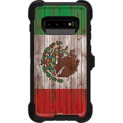 Amazon.com: Skinit Mexican Flag Dark Wood Skin for OtterBox ...