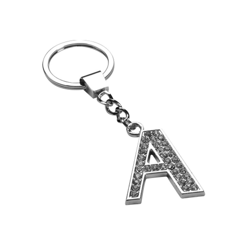 Mybat Glamorous Letter 'T' Keychain With White Crystals Valor 2352079