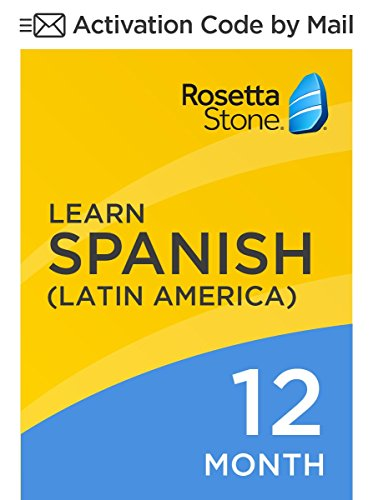Rosetta Stone: Learn Spanish (Latin America) for 12 months on iOS, Android, PC, and Mac [Activation Code by Mail]