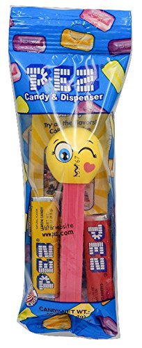PEZ Emoji Assorted Candy Dispensers, 0.58 Ounce (Storm 90s Costume)