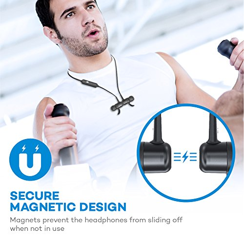 Bluetooth Headphones TaoTronics Wireless Earbuds Sports Earphones 9 Hours 4.2 Magnetic Lightweight & Fast Pairing (cVc 6.0 Noise Cancelling Mic, Snug Silicon Earbuds) - Upgraded Version by TaoTronics (Image #5)