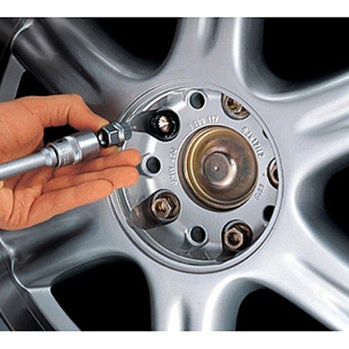 BMW genuino de bloqueo de ruedas de aleación Pernos Cerraduras Clavos Conjunto de 4 ajusta a la mayoría (36 13 6 792 849): Amazon.es: Coche y moto