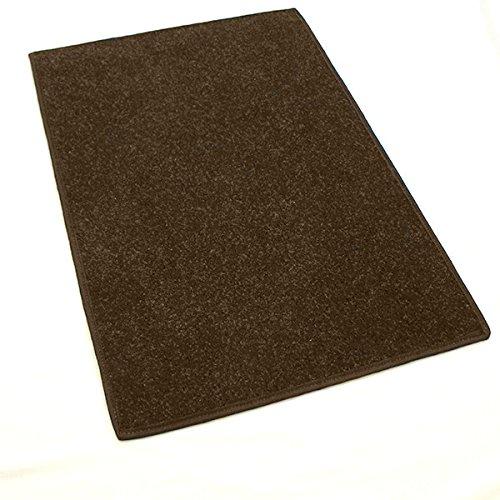 9'x12' Dark Chocolate Brown - Economy Indoor / Outdoor Carpet Area Rugs | Light Weight Spun Olefin Reliably Comfortable Indoor / Outdoor Rug ()