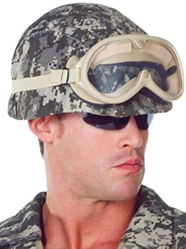[Underwraps Costumes Unisex Army Costume - Helmet, Camo, One Size] (Army Men Halloween Costumes)