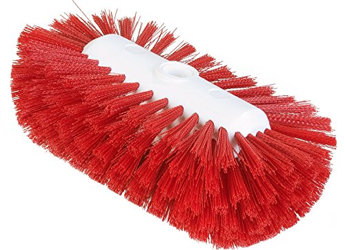 Brush Flare Head (Carlisle 4004305 Sparta Spectrum Flare Head Tank and Kettle Brush, Red Polyester Bristles, 9-1/2 x 5-1/2
