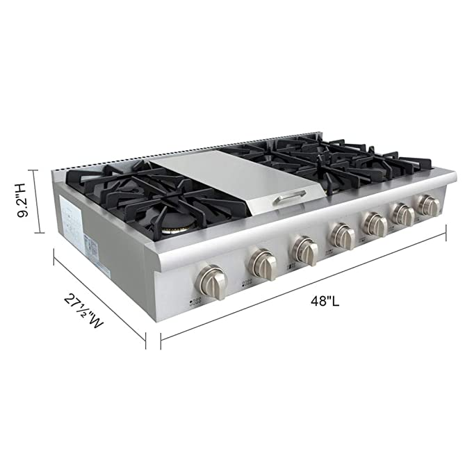 Amazon.com: Thor Kitchen HRT4806U - Cobertor de cocina con 6 ...