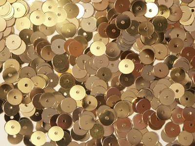 6mm FLAT SEQUINS Gold Loose sequins for embroidery, applique, knitting, arts, crafts, and embellishment.