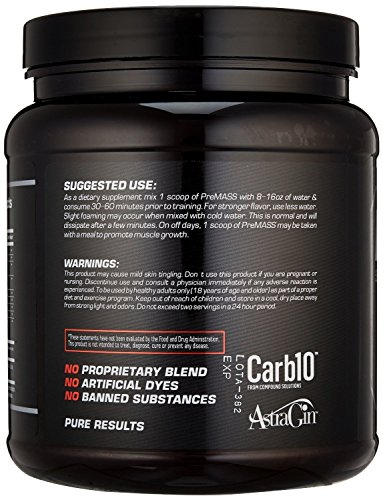 RAW Synergies PRE MASS Gainer Workout Supplement, Pre Workout Muscle Builder & Nitric Oxide Booster – Natural Weight Gainer – Caffeine Free, Effective Intra & Post Muscle Building, Dragon Fruit, 688G by RAW Synergies (Image #7)