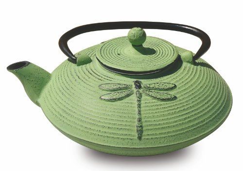 Old Dutch Cast Iron Placidity Teapot, 26-Ounce, Light Green