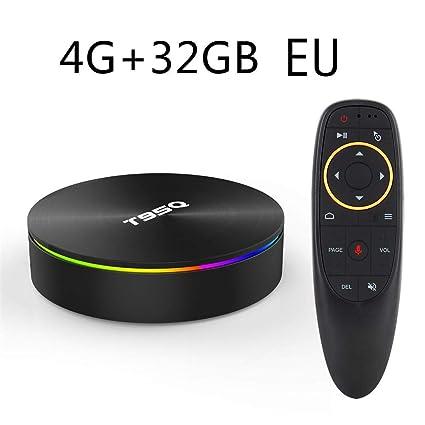 tv box android 8.1 4gb 64 gb telecomando vocale  Motto.h T95Q TV Box S905X2 Lettore di Rete Intelligente Android 8.1 ...