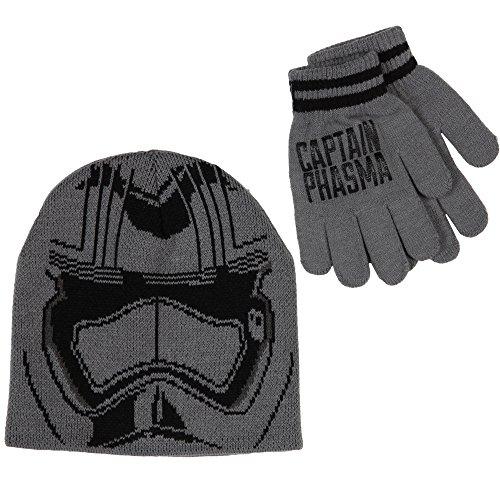 Star Wars Big Boys' Episode 7 Captain Phasma Helmet Beanie and Glove Set, Grey, One Size