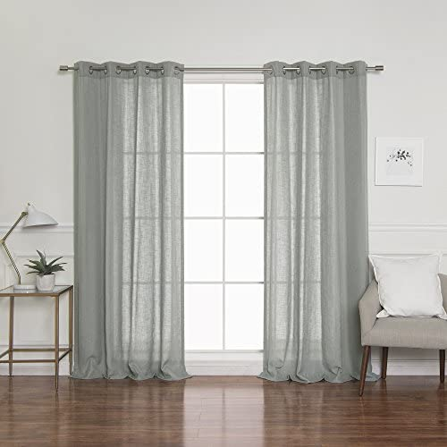 Best Home Fashion Linen Blend Curtain