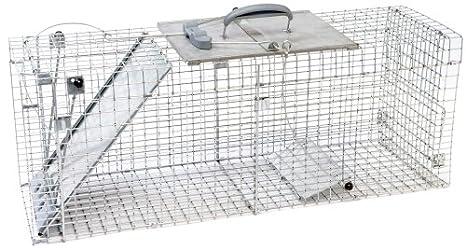 Havahart 1092 Trampa Jaula plegable 1-puerta para animales grandes vivos.: Amazon.es: Bricolaje y herramientas