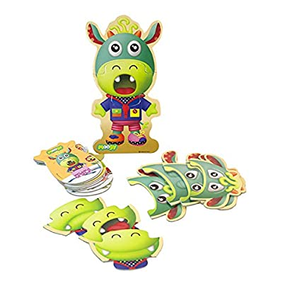 Miniland Educational - Emo Moogy, The Emotions Board Game - Fun Activity for Teaching Children About Their Feelings, Educational Playset for Communication and Social Skills: Toys & Games