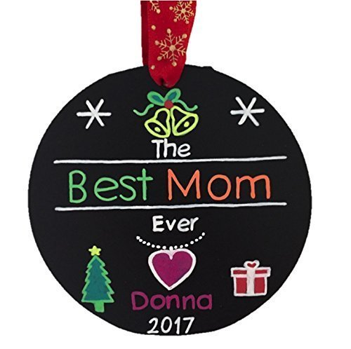 amazon com best mom ever personalized christmas ornament mom