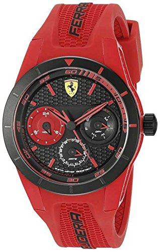 Ferrari Men's 0830258 REDREV T Analog Display Quartz Red Watch