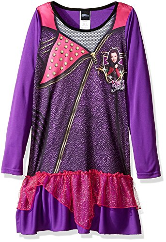 Disney Girls' Big Girls' the Descendants Mal Ruffled Nightgown, Purple, (Ruffled Nightgown)