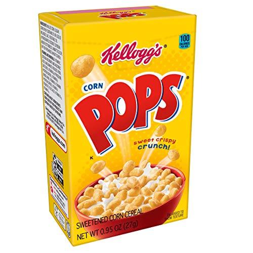 Kellogg's Corn Pops, Breakfast Cereal, Original, Single Serve, 0.95 oz Box(Pack of ()