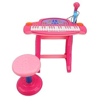 Kids Childrens Electronic 36-Key Keyboard Piano with Stand Microphone u0026 Stool Pink  sc 1 st  Amazon UK & Kids Childrens Electronic 36-Key Keyboard Piano with Stand ... islam-shia.org