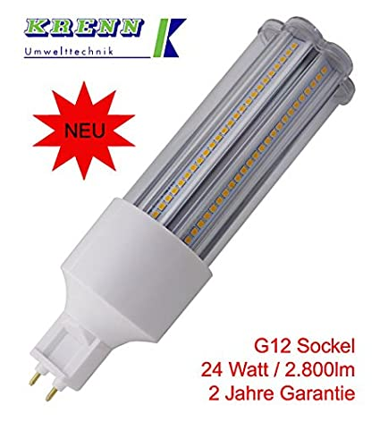 Bombilla LED G12 - 24, 24 W, G12 Socket, 2800 lúmenes, luz blanca cálida, Introducción Precio: Amazon.es: Iluminación