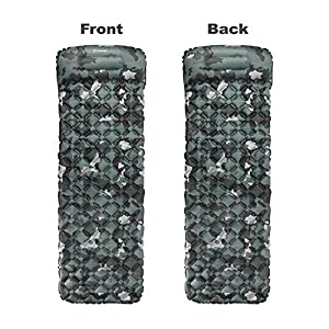 Hitorhike Backpack Sleeping Pad   Lightweight Camping Sleeping Bag Pad   Ultralight & Compact & Inflatable Air Mattress Pad-Insulated Air Mat   for Camp,Backpacking,Hiking,Scouts,Travel(CAMO)