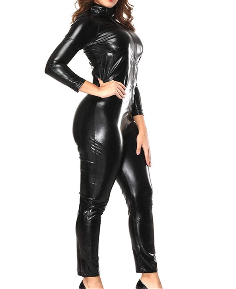 Amazon.com: YouYayaZai - Traje de vestir para mujer, de piel ...