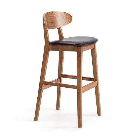 Amazon.com: WGH pequeño asiento Nordic madera taburetes de ...