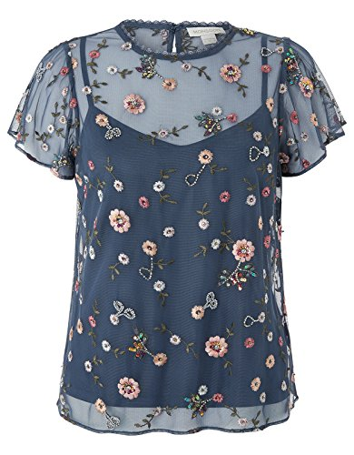 Monsoon Brooke Embellished Top - 10 by Monsoon