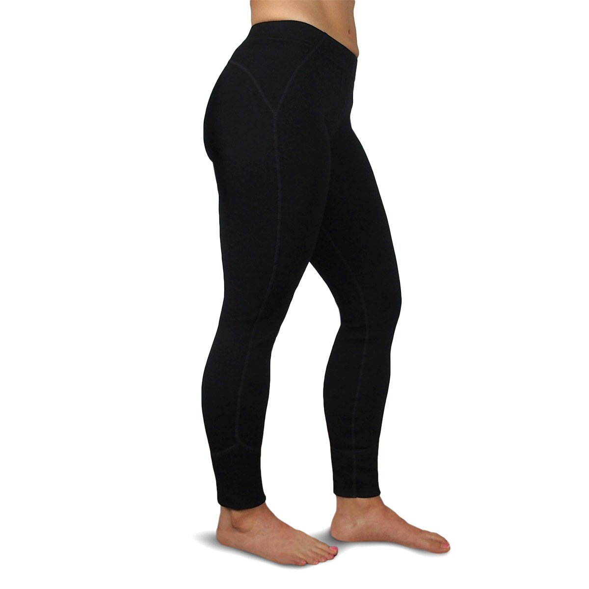 Minus33 Merino Wool 2300 Woolverino Women's Micro Weight Leggings Black Large