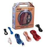 Car Audio Cable Wiring Kit - 20ft 8 Gauge Powered 1200 Watt Complete Amplifier Hookup for Battery, Head Unit & Stereo Speaker Installation Sound System - Pyle PLAM14