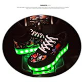 2016 New Hot Sale Star-Stripes New Fashion Luminous Colorful Sneakers for Men&Women Casual Flat Shoes