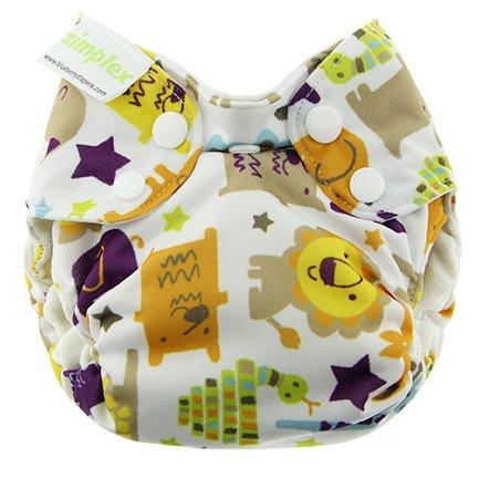 Blueberry Newborn Simplex All in One Cloth Diapers, Made in USA (Jungle Jam)