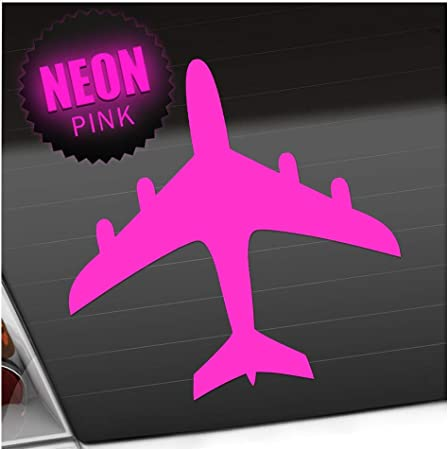 Kiwistar Flugzeug 11 X 11 Cm In 15 Farben Neon Chrom Sticker Aufkleber Auto