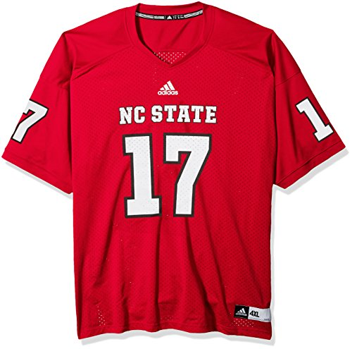 adidas NCAA North Carolina State Wolfpack Adult Men NCAA Replica Football Jersey, Large, Power Red