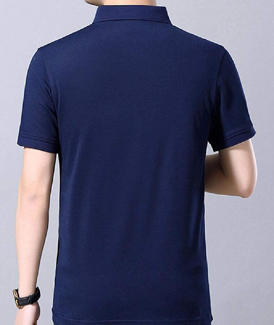 Beloved Men/'s Casual Shirt Pure Color Short Sleeve Polo Fashion T-Shirt