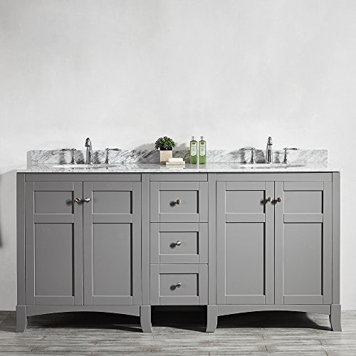"durable modeling Vinnova 730072-GR-CA-NM Arezzo 72"" Double Vanity Set,, Grey"