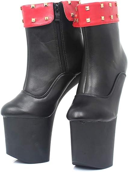 COSY L Moda Stivali al Polpaccio Tacco a Spillo Ballerine