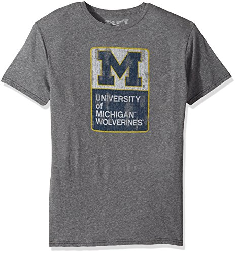 NCAA Michigan Wolverines Men's Triblend Tee, Large, Steel Grey (Michigan Wolverines Clothing)