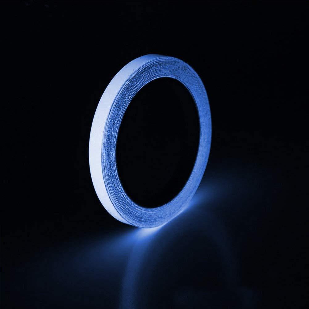 1.5CM, C Tianya Fluoreszierendes Klebeband,Phosphor Markierungsband Leuchtendes Band Nachtleuchtend Selbstklebendem Wasserdicht Luminous Tape Warnband Hauptdekoration B/ühnenbedarf