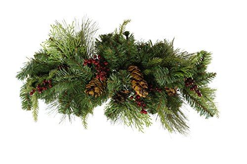 Caffco Artificial Greenery Holiday Home Decor (Pinecones and Berries)
