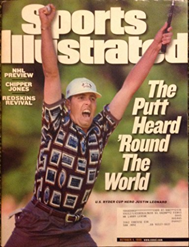 Sports Illustrated October 4 1999 Justin Leonard US Ryder Cup (Justin Ryder Cup Leonard)