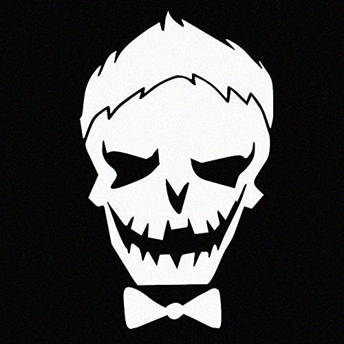 White Joker Skull Car Decal Sticker (cars, laptops, windows) - (Suicide Squad Inspired)