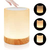 Touch Lamp, Portable Table Sensor Control Bedside Lamps with Quick USB Charging Port, 5 Level Dimmable Warm White Light…