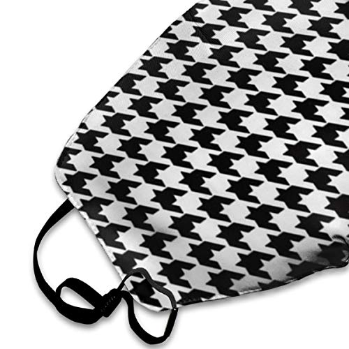 NOT Black and White Houndstooth Personality Lovely Unisex Dust Mask, Suitable for Young Men and Women, Ski Bike Camping Windproof Motorcycle Face Mask