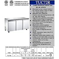 72in Freezer Refrigerator Under Counter Worktop Undercounter  Under-Counter  RESTAURANT EQUIPMENT