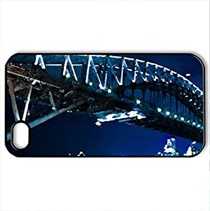 Sydney Harbour Bridge - Case Cover for iPhone 4 and 4s (Bridges Series, Watercolor style, Black)